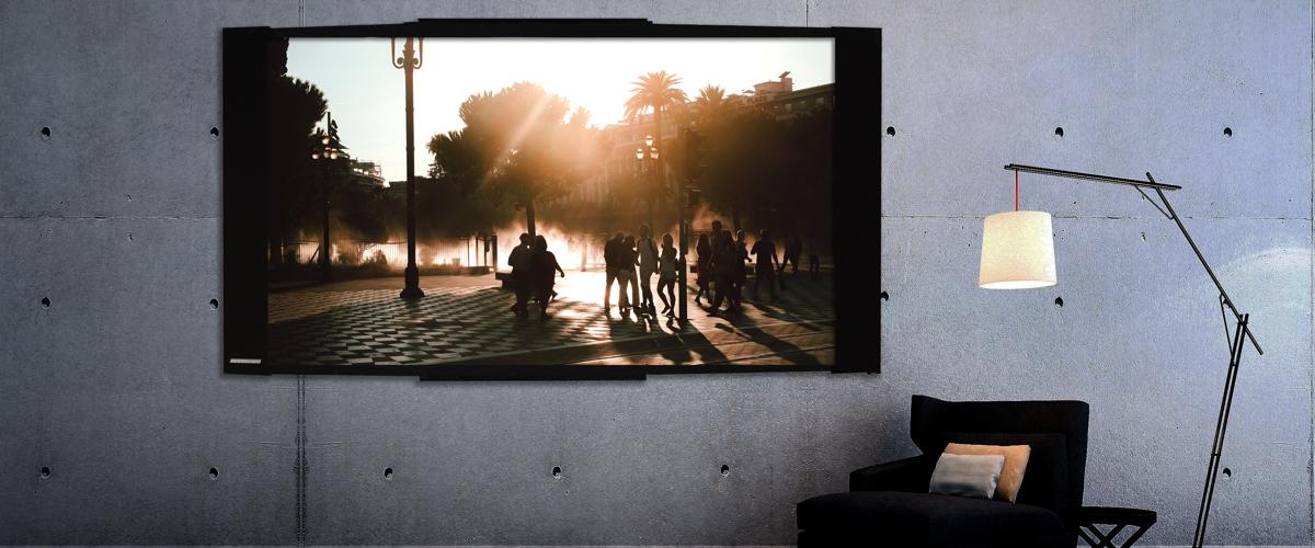 ecran de projection cadre