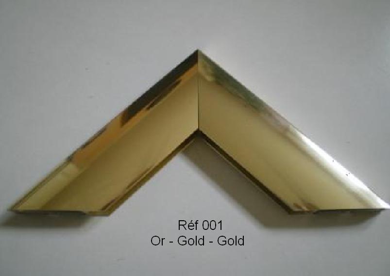 Cadre en aluminium Or 001